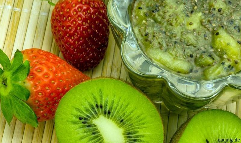 Kiwi-Marmelade mit Chia Samen