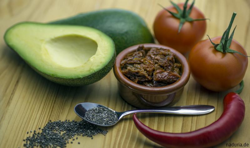 Zutaten für Chia-Salsa