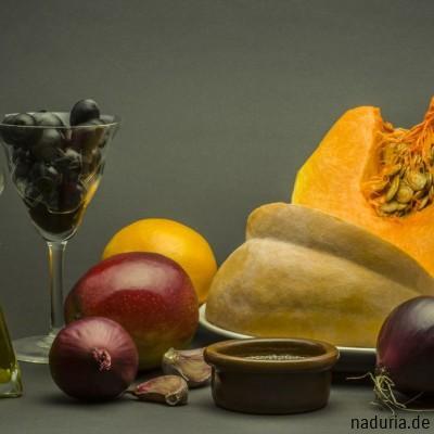 Zutaten für Kürbissuppe mit Chia Samen