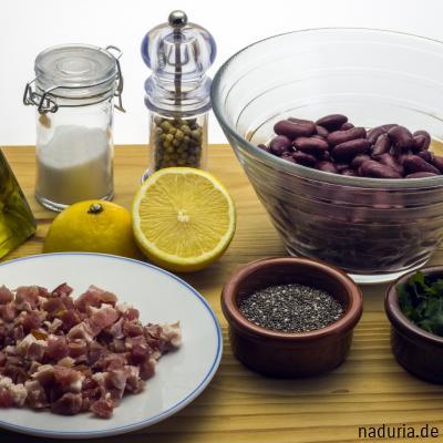 Zutaten für Kidney-Bohnen-Salat