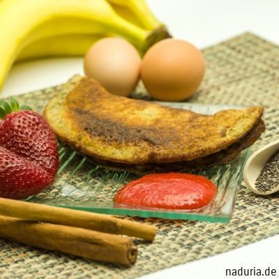 Bananen-Chia-Pfannkuchen