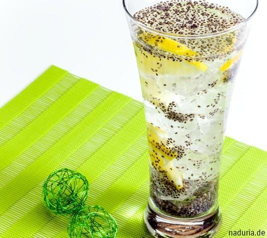 Ein Glas Chia Fresca